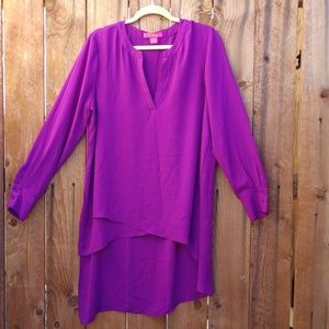 Violet Long Sleeve Dress Blouse